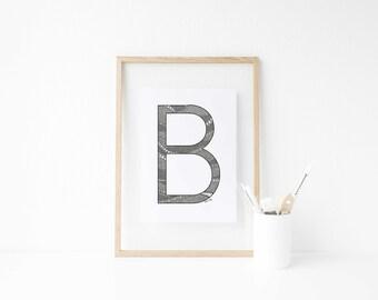 Custom Letter Drawing Print