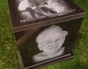 Handmade Adult Granite Urn 150 to 250 CU Personalised Urn Cremation Urn Pet Urn Urn for ashes Urn for human ashes Dog Urn Cat urn  Handmade