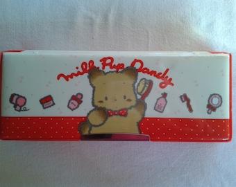 Vintage japan kawaii pencil case pencase Milk Pup Dandy by Union