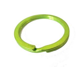 1 x ring holder Keychain metal Green