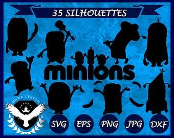 Minions vector etsy 35 minions silhouette minion clipart minion svg minion vector minion printable stopboris Gallery