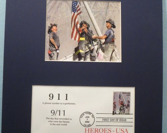 9/11 and the World Trade Center and the First Day Cover honoring First Responders & the New York Fire Department