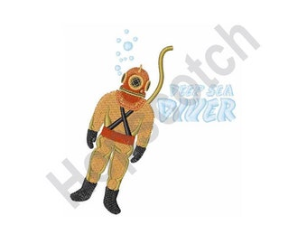 Deep Sea Diver - Machine Embroidery Design