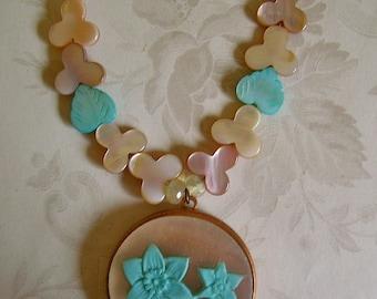 Necklace - Turquoise Jonquil Locket