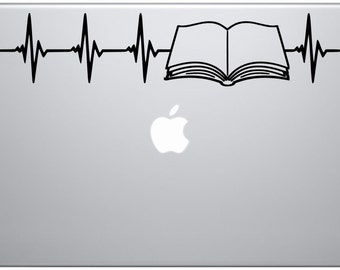 book nerd / decal / books / nerd / book lover / book / reading / reader / fiction / fantasy / science fiction / heartbeat