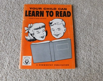 Vintage Elementary School Workbook Your Child Can Learn To Read 1952