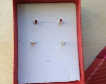 Sterling Silver round CZ Studs Earrings, 3mm, Bijoux, Bridal jewelry, Unisex, Men earring- Dainty Minimalist Post Earrings by enchantedbeads