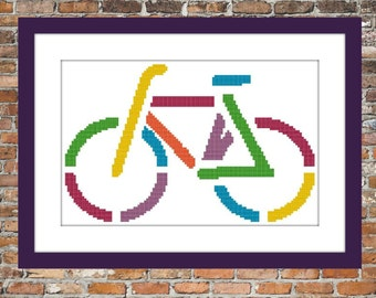 La Bicyclette - a Counted Cross Stitch Pattern