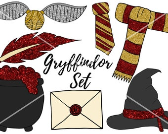 Gryffindor Clip Art Set *Digital Download*