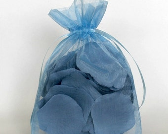 Organza Gift Bags, Cornflower Sheer Favor Bags with Drawstring for Packaging, pack of 50