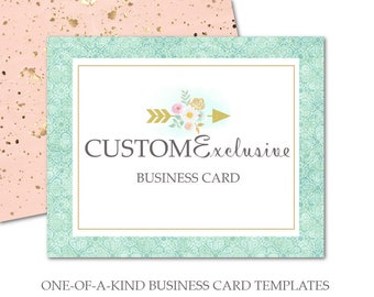 Custom Business Card Design-For Personal or For Small Crafty Business Owners-Double Sided Business Card Template-For Print at Vistaprint.com