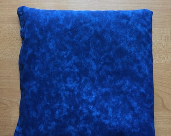 Rice heating pad or ice pack blue