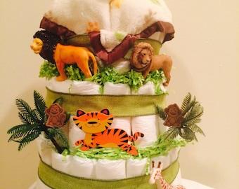Lion King Diaper Cake - Jungle Theme