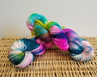 "Wool Sock Yarn, Handpaint Wool Sock Yarn, Sockupation ""Spring Has Sprung"""