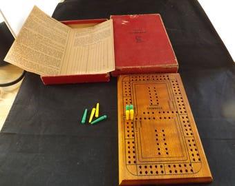Drueke Cribbage Board with Original Box