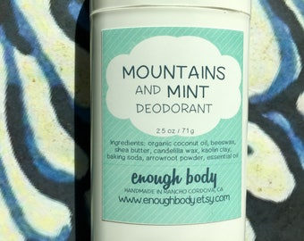 Mountains and Mint Natural Deodorant Stick ~ Aluminum Free Deodorant
