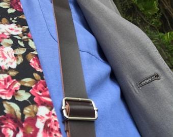 Dark Brown Adult Leather Suspender Boyfriend Gift Men's Gift Anniversary Gift for Men Husband Gift Wedding Gift ForHim Groomsmen Gift Party