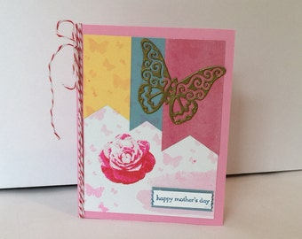 Mother's Day Rose & Butterfly Card