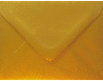 50 Premium Gold Metallic Envelopes by Mad as a Crafter  (Various sizes)