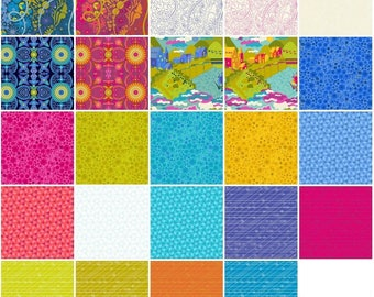 Diving Board - Fat Eighth Bundle by Alison Glass - Full Collection - 24 prints