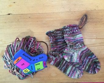 Hand Knit Baby Socks Etsy