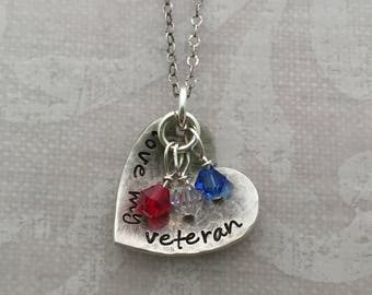 Love My Veteran Necklace