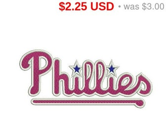 TODAY SALE 25% Philladelphia Phillies logo embroidery design / embroidery designs / INSTANT download machine embroidery pattern