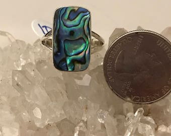 Abalone Ring Size 10