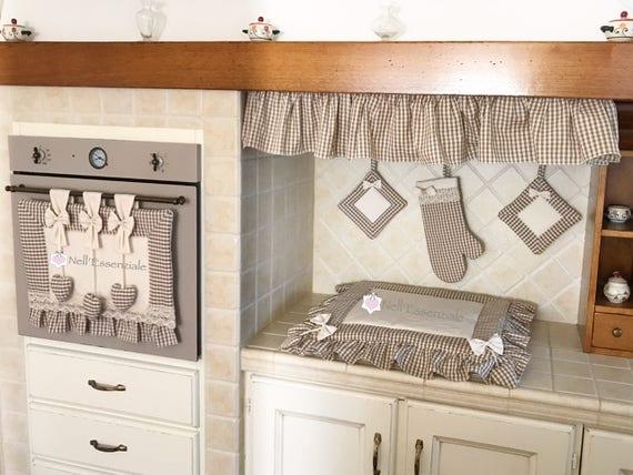 Set cucina con copri forno copri fuochi guanto da forno for Cucina giocattolo fai da te