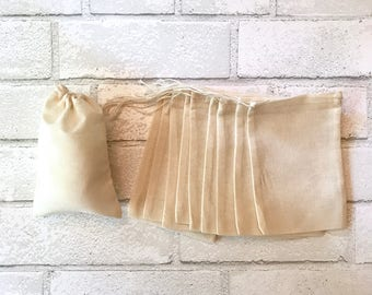 4 x 6 Muslin Bag 25 Bulk Drawstring Blank Cotton Favor Bags Wedding Bridal Shower Baby Shower Soap Jewelry DIY Craft Supplies Thank You