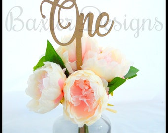 Wooden Table Numbers Wedding Party Celebration