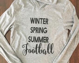Winter Spring Summer Football Hoodie
