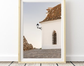 Streets sunset from Ibiza photo. Landscapes of Spain. Sun and light. Printable image for download. From Spain with Love