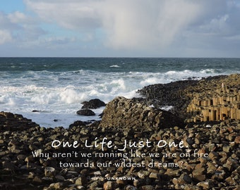 One Life. Just One. Photo Quote