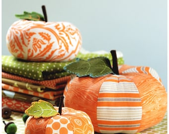 Pumpkin Sewing Pattern - PDF Sewing Pattern Patchwork Pumpkins - Pumpkin Pattern Instant Download
