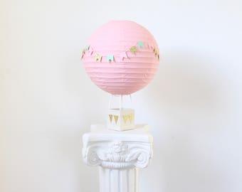 Hot Air Balloon Decoration -Baby Shower Centerpiece Decoration - Bridal Shower Decor - Baby Shower Gift - Nursery Decor - Pink