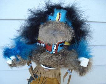 FINAL SALE Vintage Hemis Kachina Native American Katsina Artist Signed