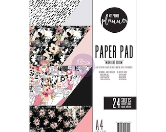 Midnight Bloom My Prima Planner Double-Sided A4 Paper Pad 24/pkg (596521)
