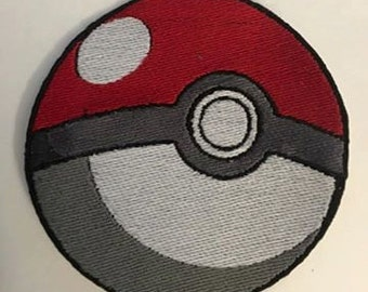 Iron On Patch Inspired Fan Art Pokemon PokeBall