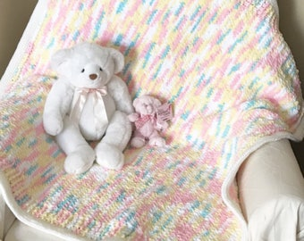 Pastel Baby Blanket, Pink Baby Blanket, Soft Baby Blanket, Baby Blanket, Nursery Blanket, Crib Blanket, Baby Shower Gift