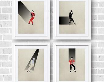 Michael Jackson Minimalist Set 8x10 Print - MJ