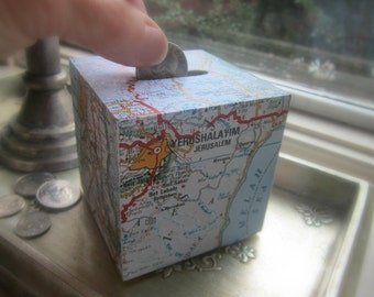 Charity/Tzedakah Box: Map of Israel