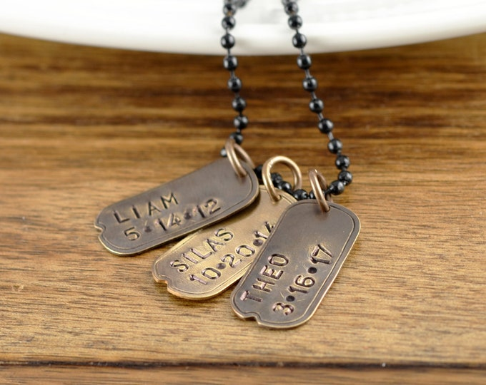 Mens Necklace, Mens Gift, Mens Jewelry, Dog Tag Necklace, Dog Tag Jewelry, Gift for Dad, Husband Gift, Dad Necklace, Gift for Him