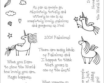 Simply Sweet Stamps - Fabulous Unicorns Digi Stamp Bundle