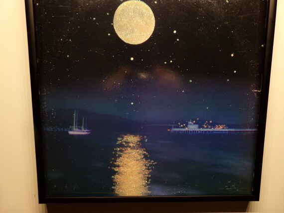 Glittered Record Album - Carlos Santana
