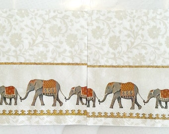Free shipping!!! 4 pcs. Decoupage napkins-ELEPHANT Design,napkins for decoupage,Collage,Scrapbooking,paper craft projects,decoupage supplies