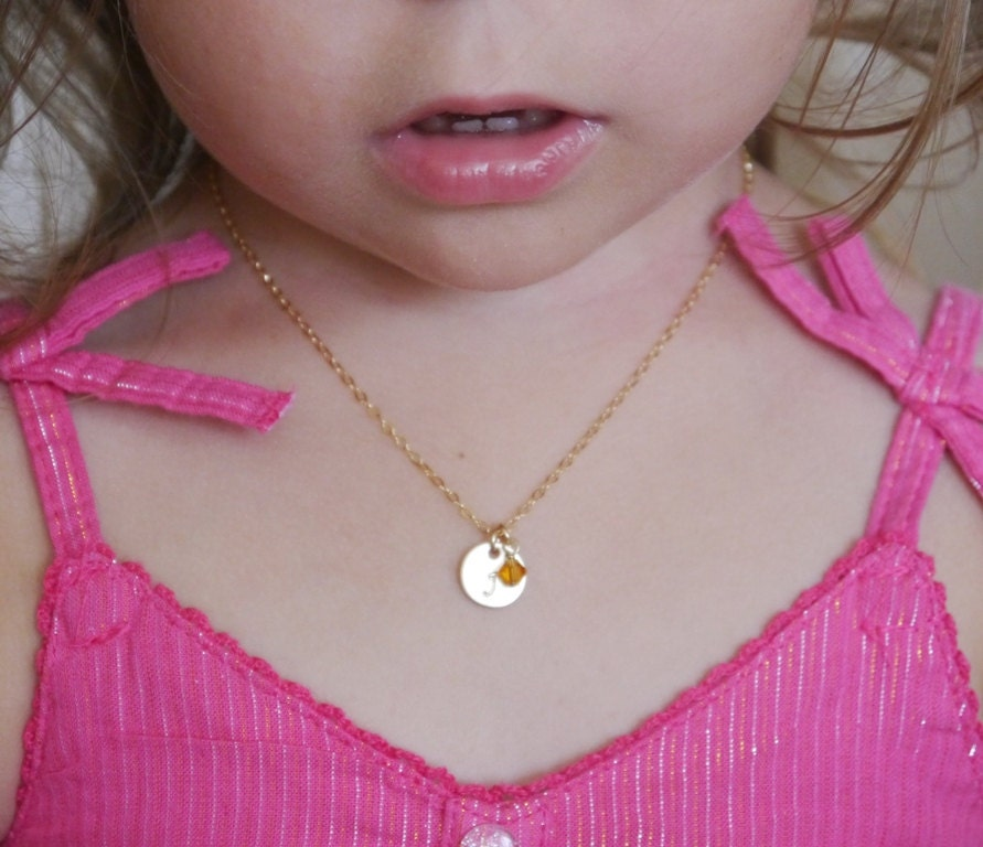 Little Girl Necklace Little Girl Jewelry Personalized Kids