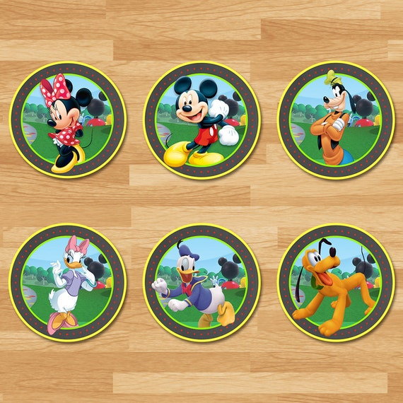 Mickey Mouse Clubhouse Cupcake Toppers Chalkboard Mickey