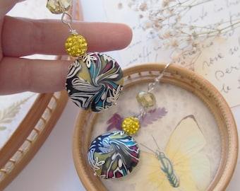 Multicolor Swirl Earrings