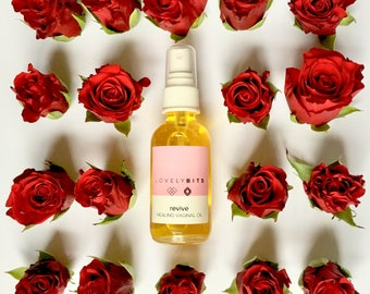 Moisturizing Intimate Oil for Vaginal Wellness, Feminine Care, Vaginal Dryness, Vaginal Itching, Personal Care, Postpartum Healing 2 oz
